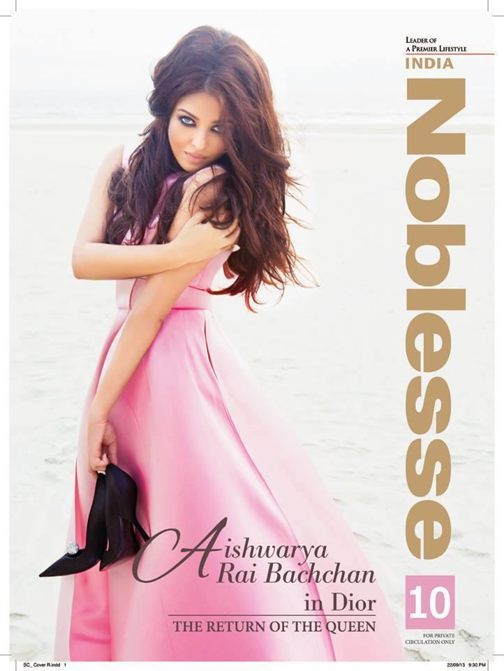 Aishwarya Graced On The Cover Page Of Noblesse India October 2013 Issue