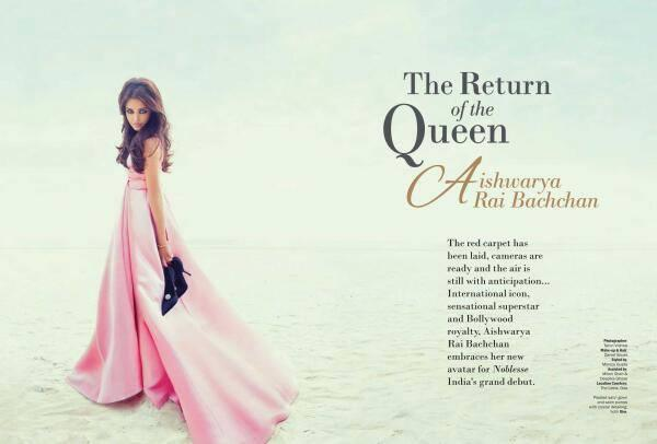 The Return Of The Queen Aishwarya Featured On Noblesse India October 2013 Edition