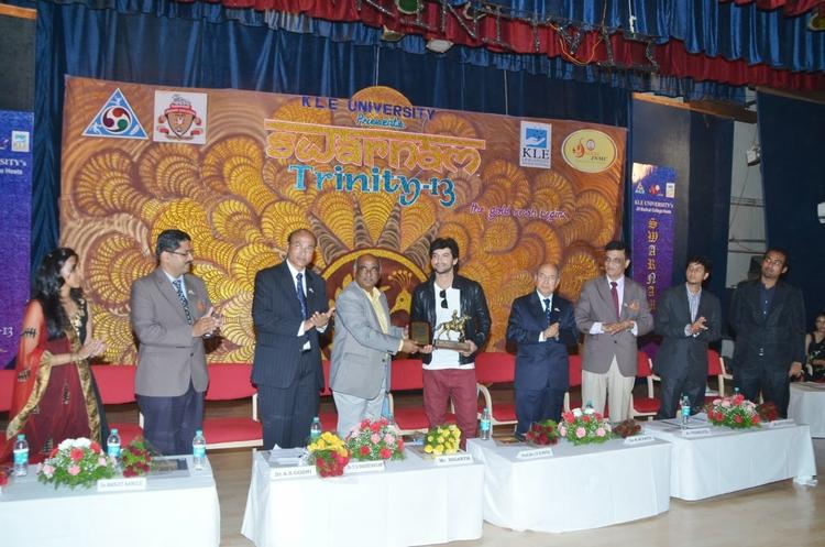 Diganth Manchale Present At J. N. Medical College Belgaum 50th Celebration