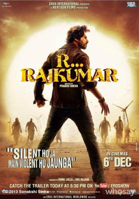 Shahid Kapoor Back Side Pose Still Pose Still From R...Rajkumar Movie Poster