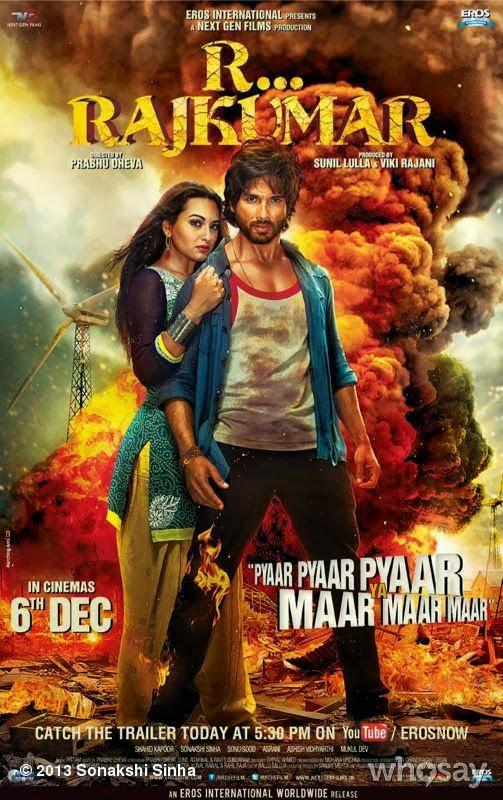 Sonakshi And Shahid Angry Look Pose Still From R...Rajkumar Movie Wallpaper