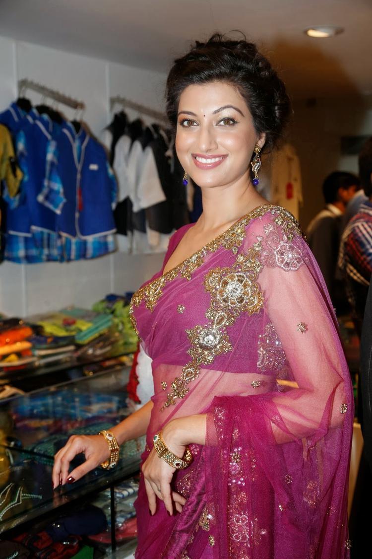 Hamsa Nandini Dazzled In Saree At Kalamandir Saree Store Showroom Launch Event