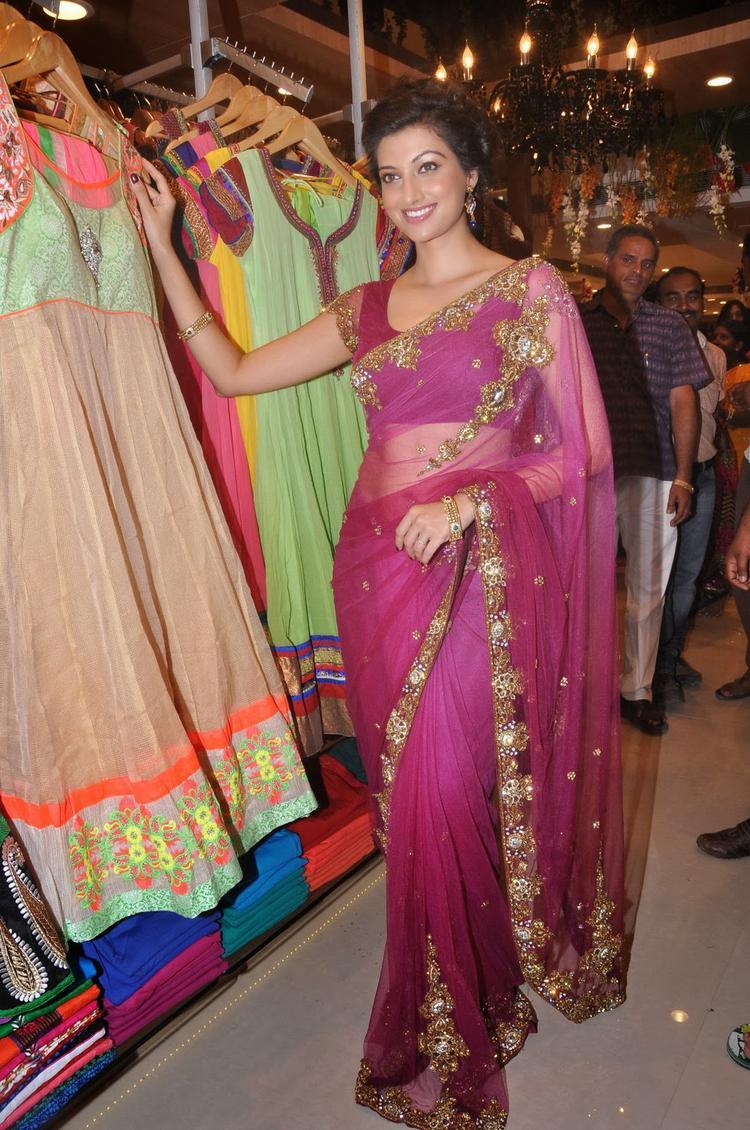 Hamsa Nandini Strikes A Pose At Kalamandir Saree Store Showroom Launch Event