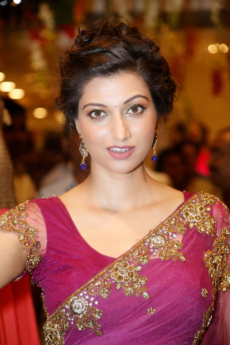 Hamsa Nandini Stunning Look During The Launch Of Kalamandir Saree Showroom At Hyderabad
