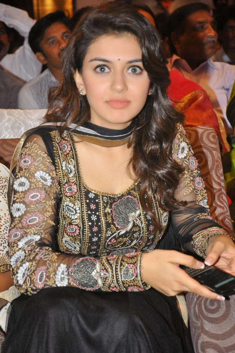 Hansika Motwani Hot Eyes Look At Doosukeltha Movie Audio Release Function
