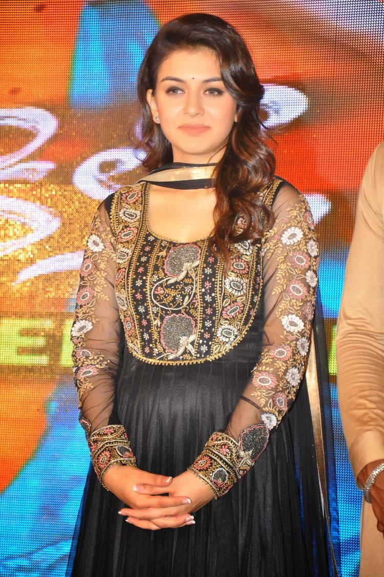 Hansika Motwani Posed For Camera During The Audio Release Function Of Doosukeltha Movie