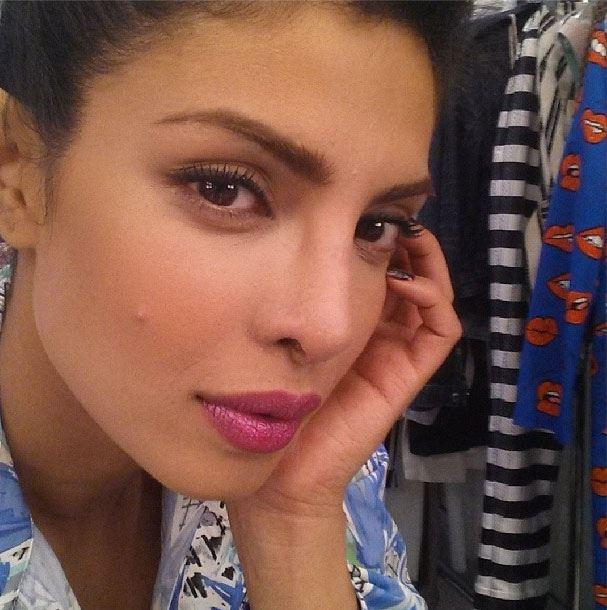 Priyanka Chopra Dazzling Face Look On The Sets Of Paper Magazine 2013 Issue
