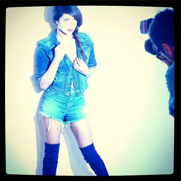Priyanka Chopra Stunning Look On The Sets Of Paper Magazine 2013 Issue