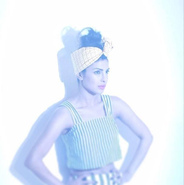 Priyanka Chopra Stylish Look On The Sets Of Paper Magazine 2013 Issue