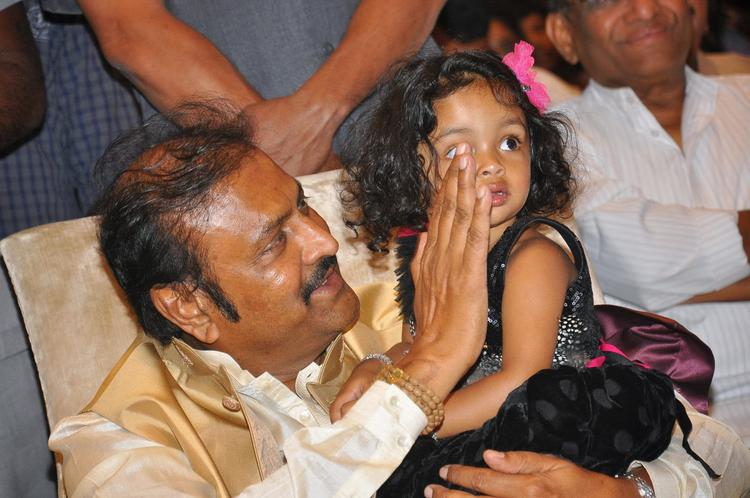 Mohan Babu Cool With A Kid At Doosukeltha Audio Launch Function