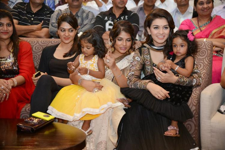 Sakshi Choudhary And Hansika Motwani Graced During The Audio Launch Of Doosukeltha Movie