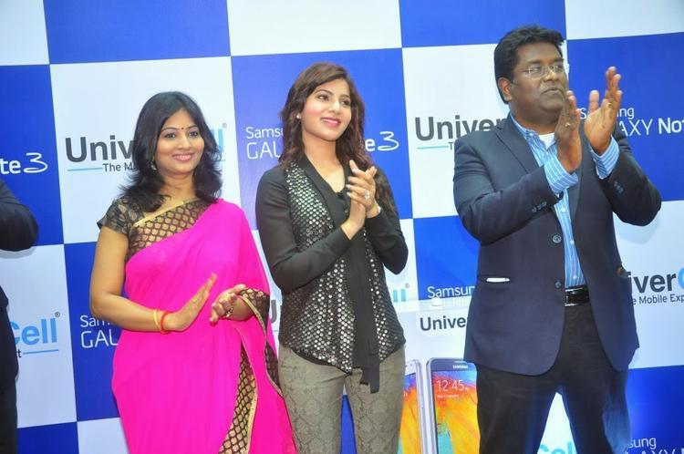 Samantha Launches Samsung Galaxy Note III At Chennai