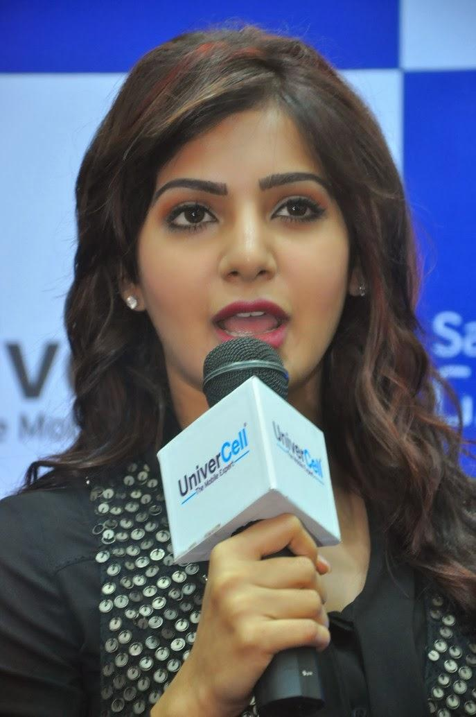 Samantha Speaking Still During The Launch Of Samsung Galaxy Note III At Chennai