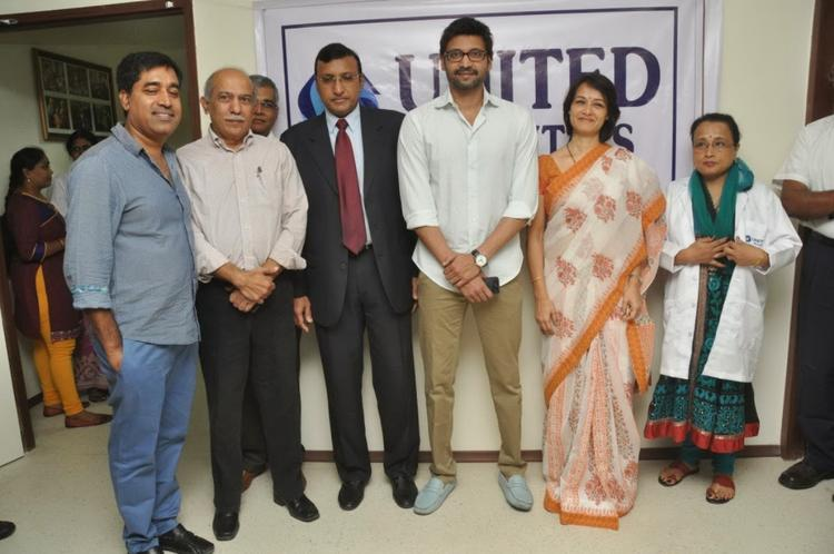 Actor Sumanth,Amala Akkineni And Others Posed For Camera During The Launch Of United Hospitals At Madhapur, Hyderabad