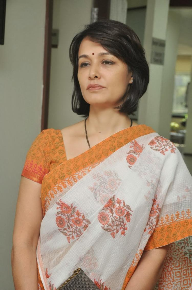 Amala Akkineni Nice Look In Saree During The Launch Of United Hospitals At Madhapur, Hyderabad