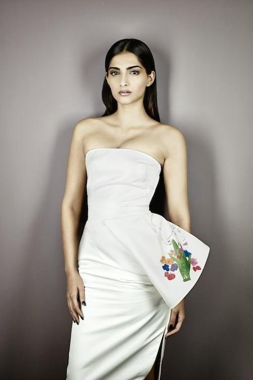 Sonam Kapoor Sexy Look In Strapless Dress Shoot For The Business Of Fashion October 2013