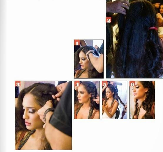 Lisa Haydon Taking Make Up Photo For Estetica India Magazine October 2013 Issue