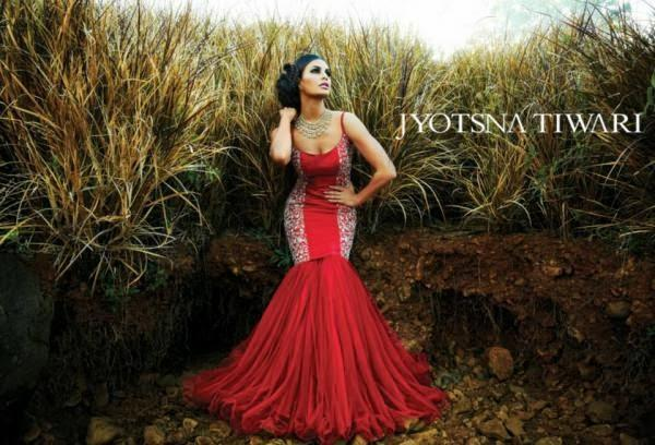 Jacqueline Fernandez Dazzling Hot Look Shoot For Jyotsna Tiwari Couture Collection 2013