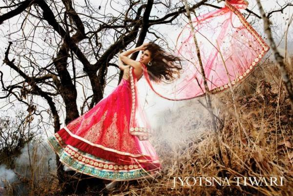 Jacqueline Fernandez Exclusive Look Shoot For Jyotsna Tiwari Couture Collection 2013