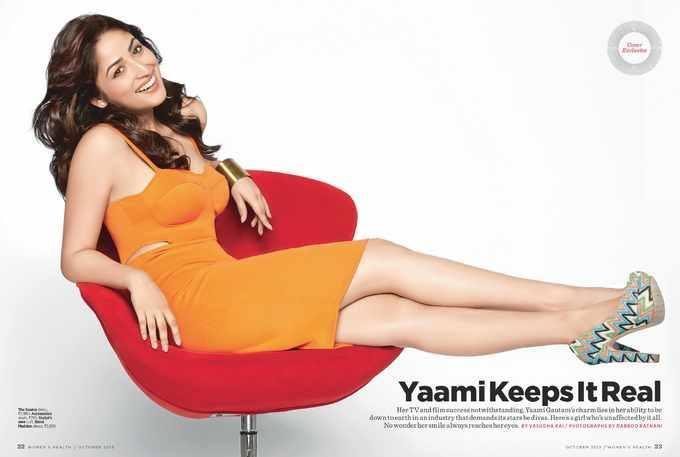 Yami Gautam Cool Pose For Women's Health Magazine's October 2013