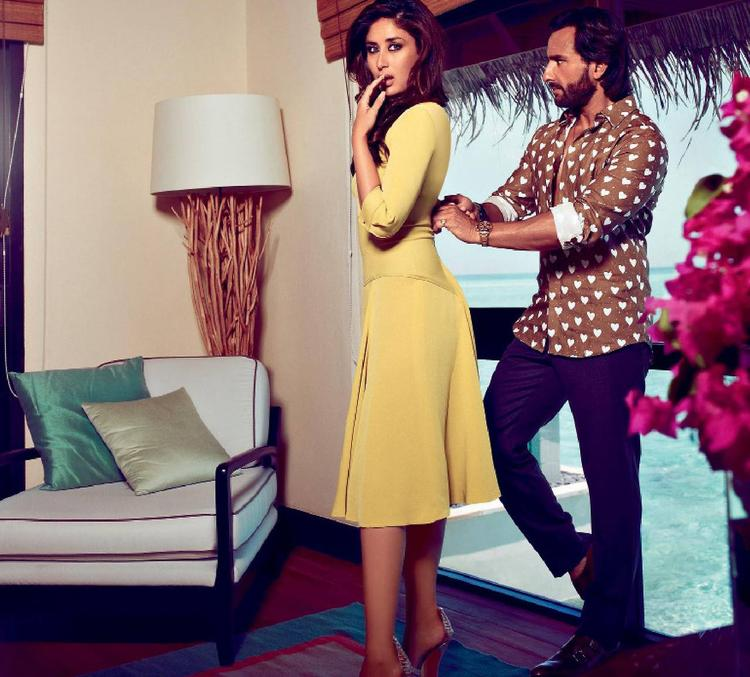 Kareena And Saif Exclusive Look For Harper's Bazaar India October 2013 Issue