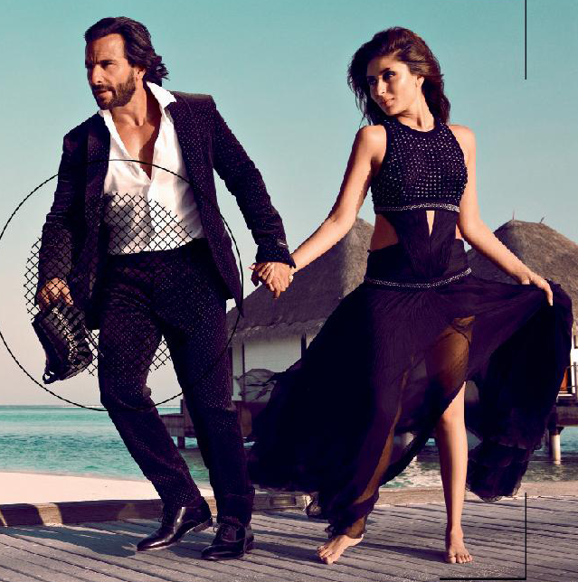 Saif And Kareena Featured For Harper's Bazaar India October 2013 Issue