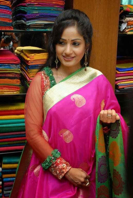 Madhavi Latha Nice Cool Look During The Launch Of Sreeja Fashions South Silk Festival 2013