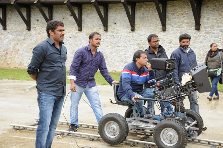 A Pic Of On The Sets Of Bhai Movie