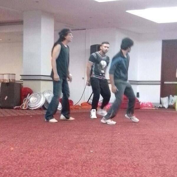 SRK Rehearsing For Temptation Reloaded Concert In Auckland