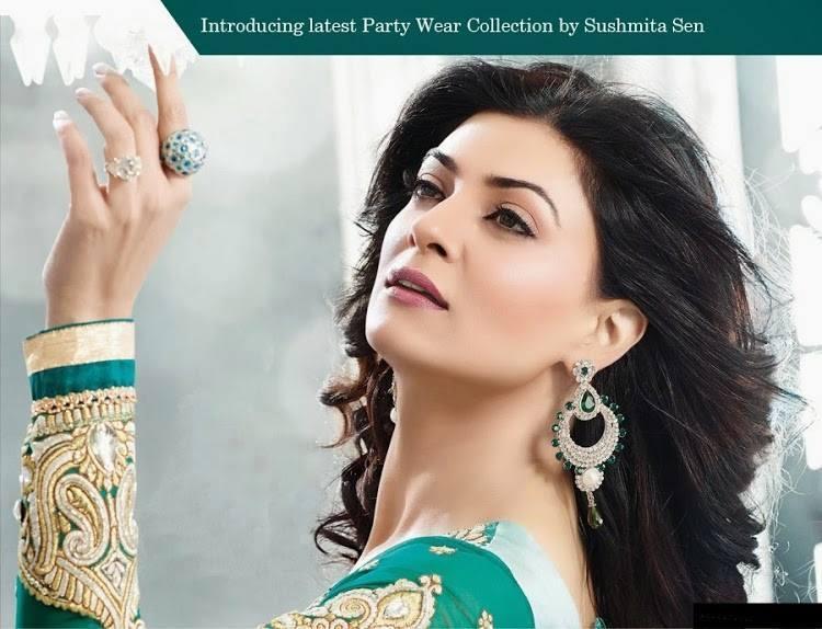 Sushmita Sen Beautiful Look Photo Shoot For New Anarkali Collection 2013