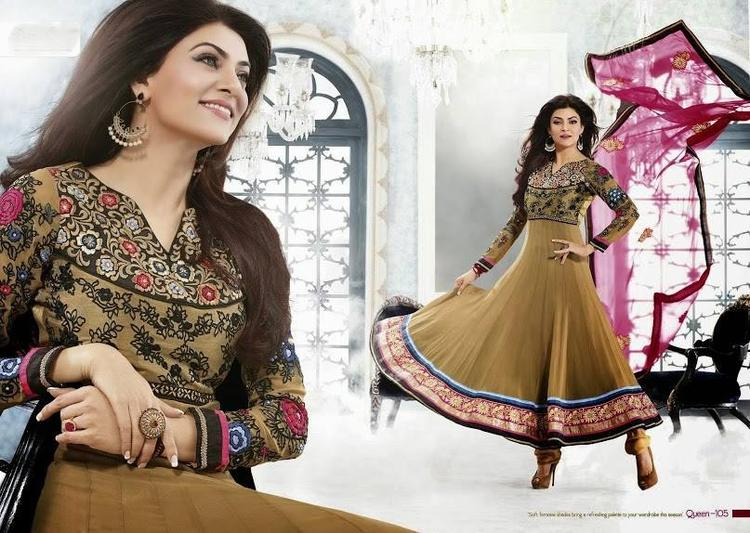 Sushmita Sen Fashionable Look Photo Shoot For New Anarkali Collection 2013