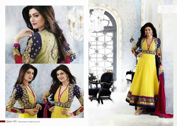 Sushmita Sen Glamour Look Photo Shoot For New Anarkali Collection 2013