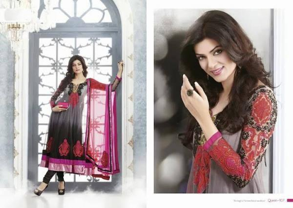Sushmita Sen Nice Look Photo Shoot For New Anarkali Collection 2013