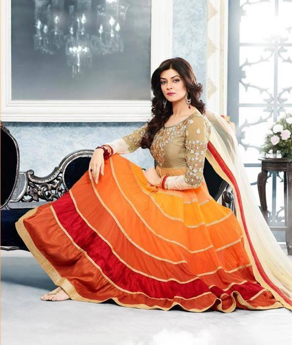Sushmita Sen Ravishing Look Photo Shoot For New Anarkali Collection 2013