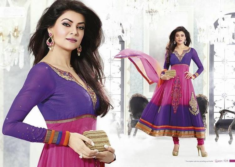 Sushmita Sen Stunning Look Photo Shoot For New Anarkali Collection 2013