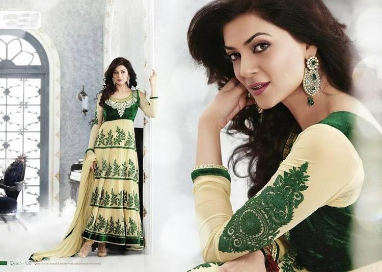Sushmita Sen Trendy Hot Look Photo Shoot For New Anarkali Collection 2013