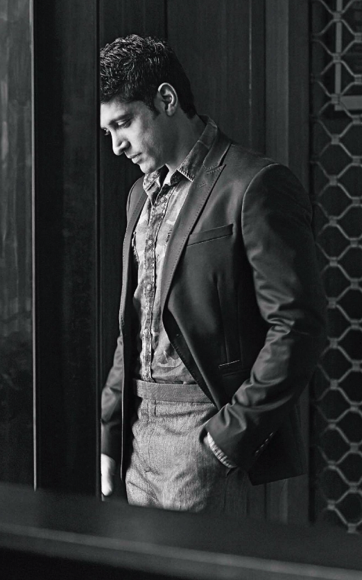 Farhan Akhtar Cool Nice Pose Photo Shoot For Grazia Men October 2013 Issue