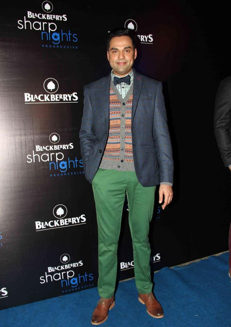 Abhay Deol Cool Look Posed During The Launch Of Fall-Winter 2013 Collection At Blackberry Sharp Night
