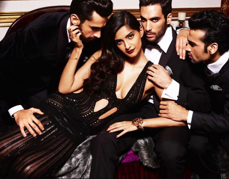 Sonam Kapoor Spicy Hot Bold Pose Shoot For GQ Magazine October 2013 Issue