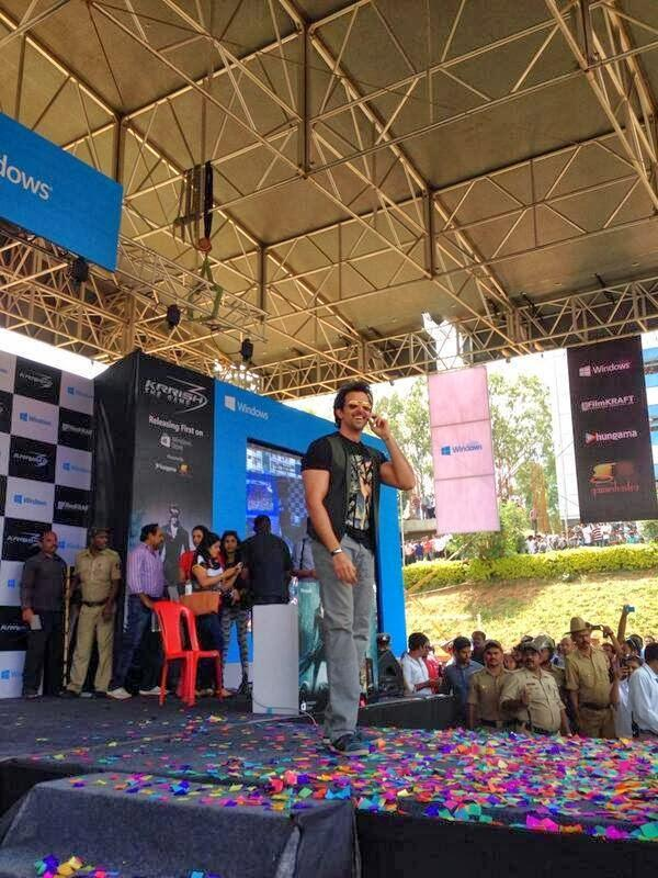 Hrithik Roshan Launched The Krrish 3 Game At Dayanand Sagar College In Bangalore