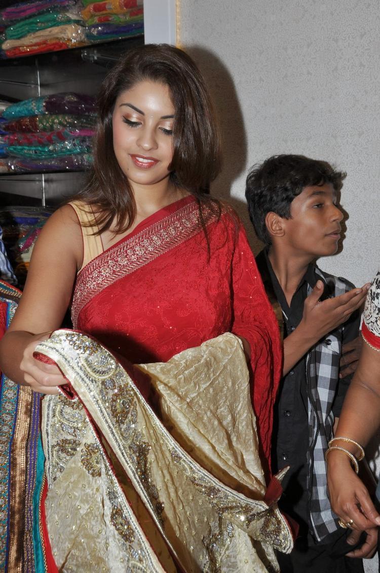 Richa Gangopadhyay At Priyanka Showroom Launch Event In Hyderabad