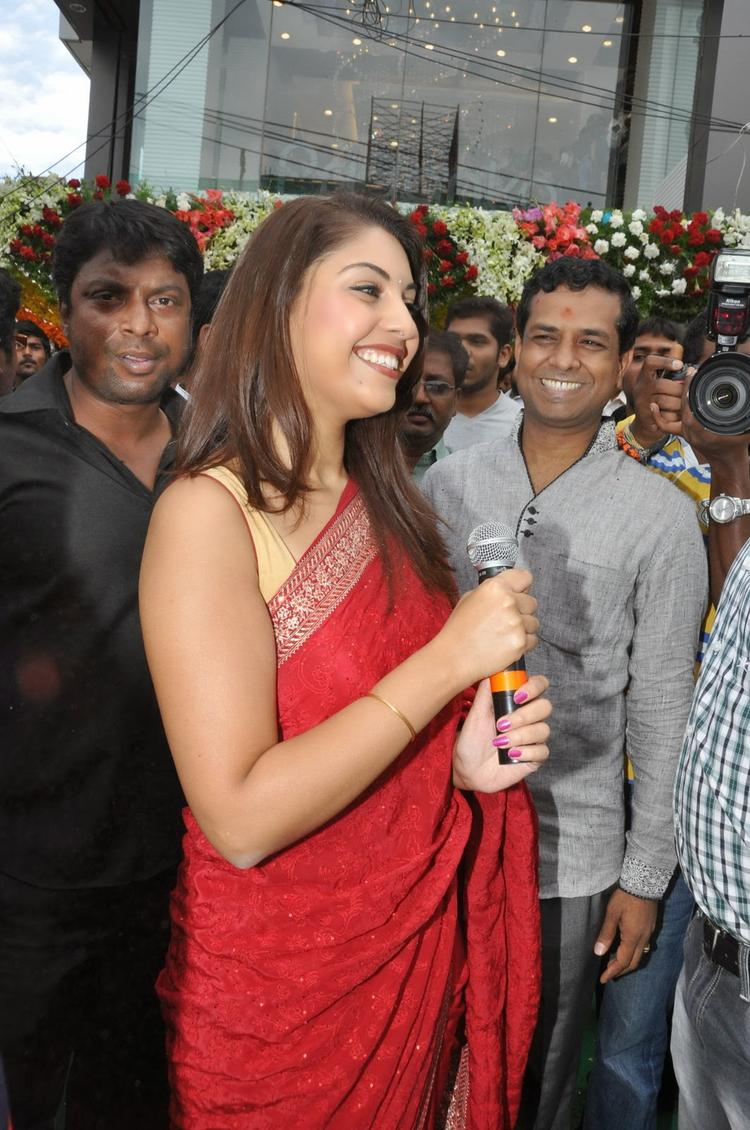 Smiling Richa Gangopadhyay Dazzled At Priyanka Showroom Launch Event In Hyderabad