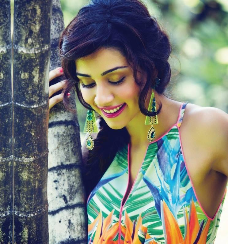 Amrita Puri Sizzling Pose Photo Shoot For Hello Magazine