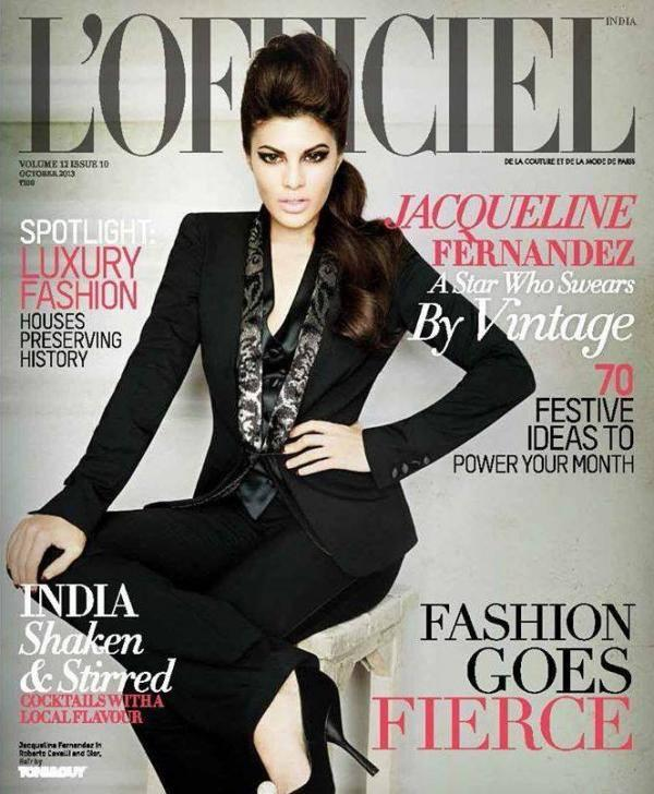 Jacqueline Fernandez On The Cover Of L'Officiel