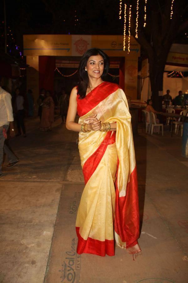 Sushmita Sen Snapped At A Durga Puja In Mumbai