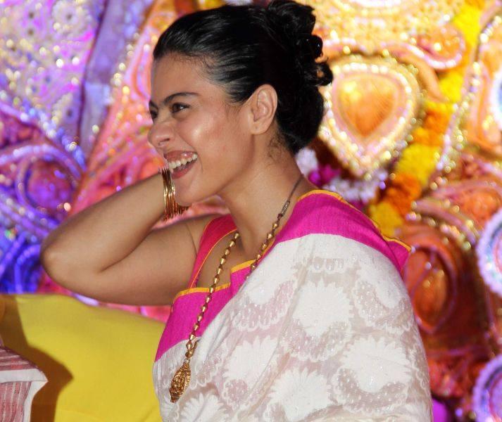 Kajol Devgan Arrives At Durga Puja Celebrations