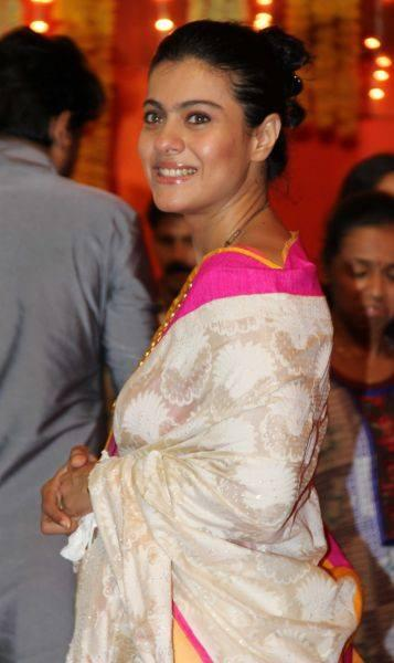 Kajol Devgan A Pic During The Durga Puja Celebrations In Mumbai