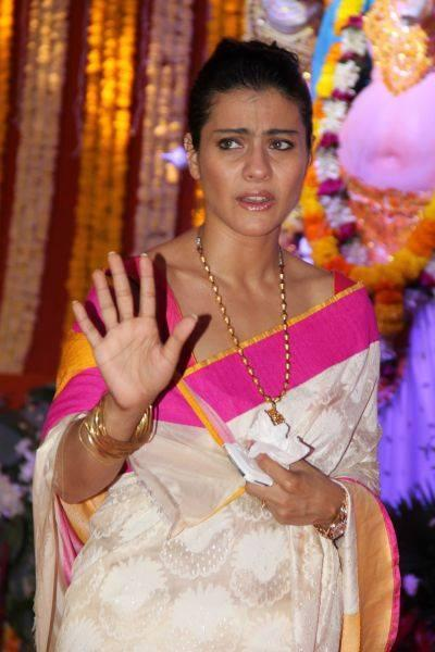 Kajol Wore Amrapali Necklace For Durga Puja