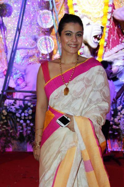 Sizzling Kajol Devgan Attended Mumbai Durga Puja
