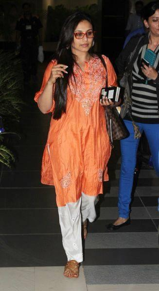 Rani Mukherjee Spotted At Mumbai International Airport
